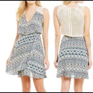 Miss Me Crochet Chevron Dress